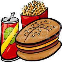 fast food cartoon clip art