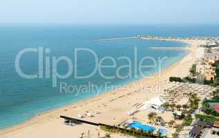 beach of the luxury hotel, ras al khaima, uae