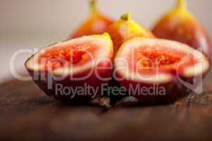 fresh figs over old wood