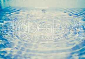 retro look water droplet