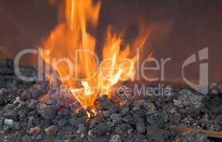 Schmiedeofen, Flamme, Feuer