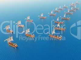 Römische Kriegsschiffe
