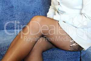 sexual legs in black stockings of women