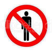No trespassing sign males