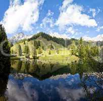 Little alpine lake in Austria