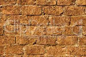 wall with limestone blocks