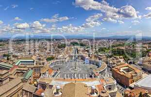 Panorama aerial view of rome