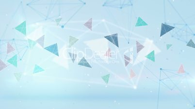 technology blue network loopable background