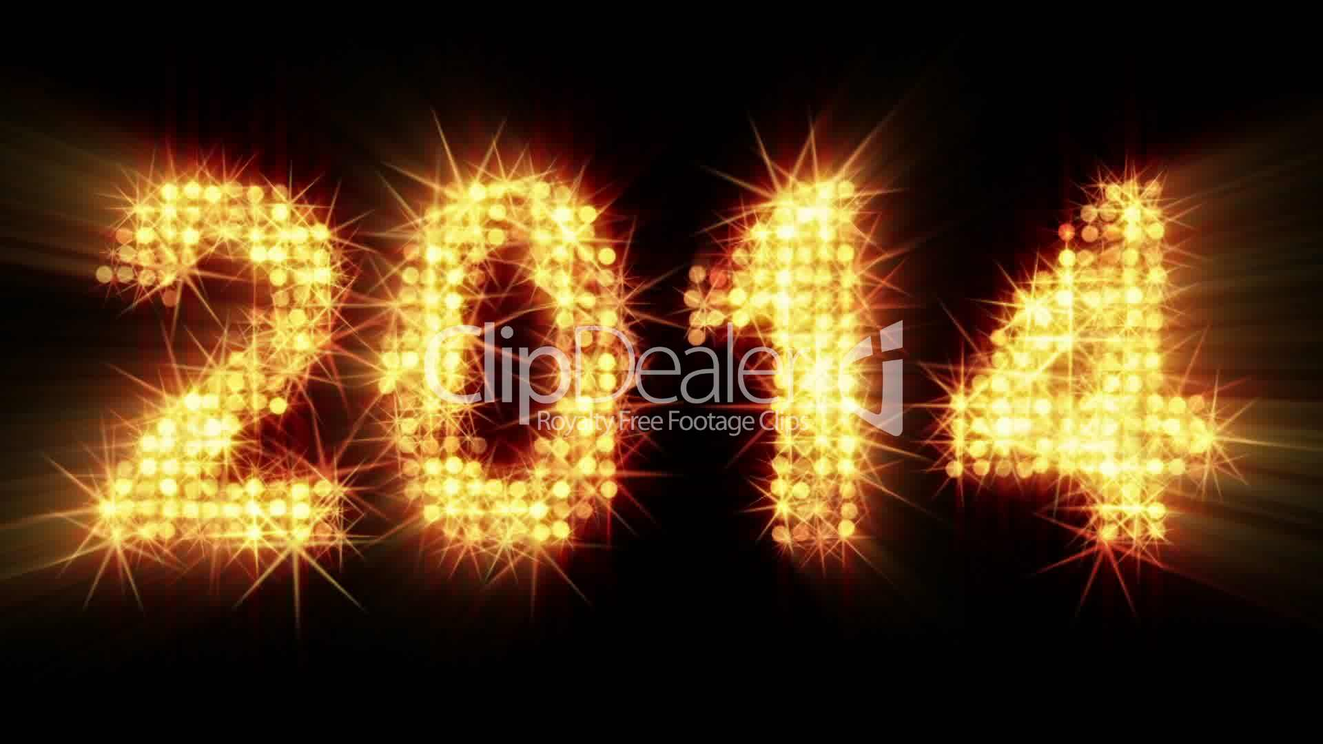 New year 2014 greeting glowing yellow particles royalty free video clips new year 2014 greeting m4hsunfo