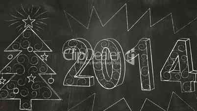 Drawing 2014 new year greetings on blackboard royalty free video video footage clip drawing 2014 new year greetings on blackboard click to download m4hsunfo