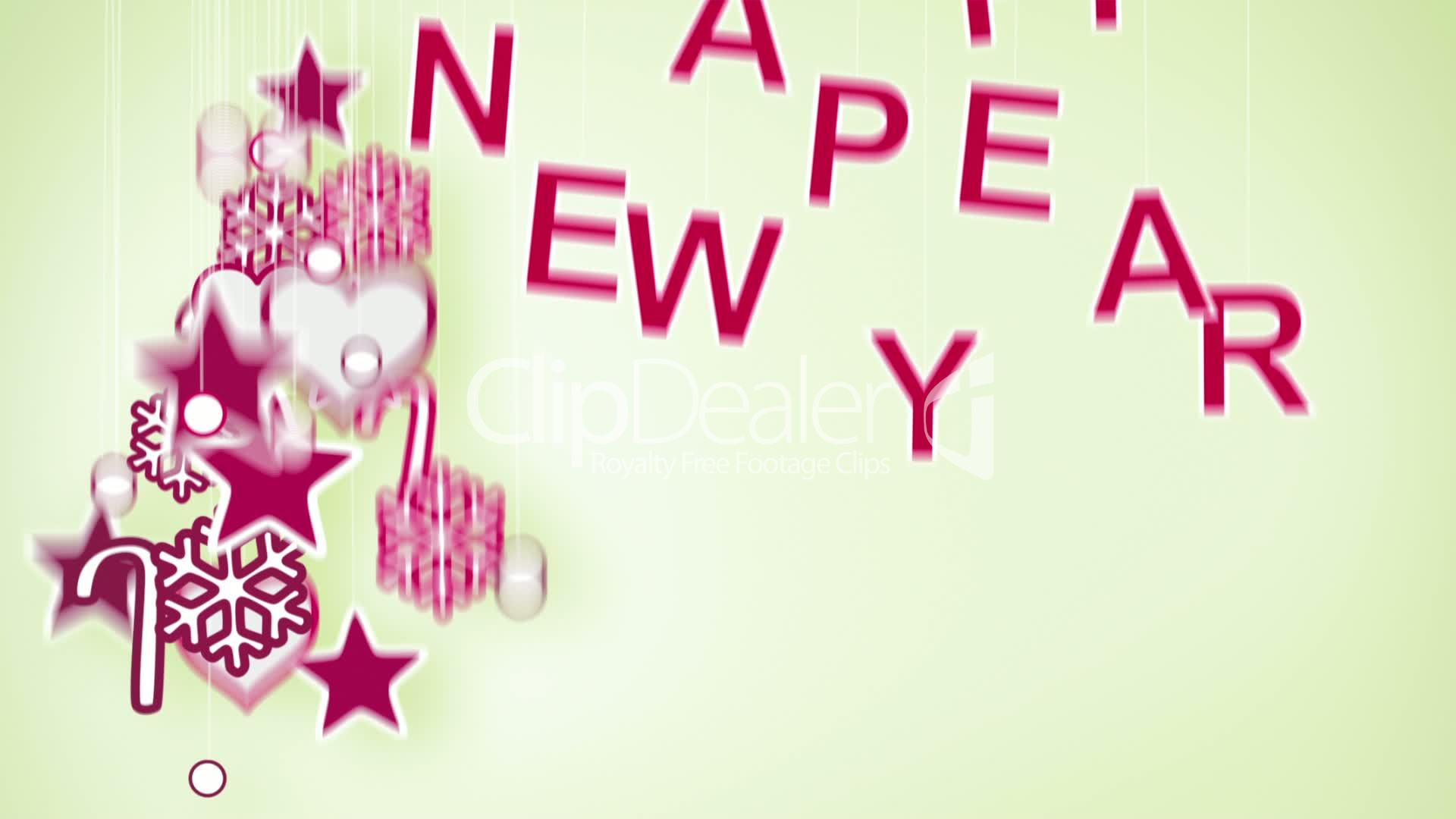 Happy New Year Greeting Loop Royalty Free Video And Stock Footage