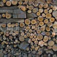 Brennholz, Holzlager, Holzstapel