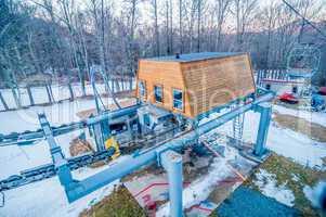 ski lift ground engine structure