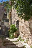 Treppe in Skradin, Kroatien
