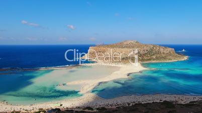 time lapse clip of shadows and clouds of balos lagoon