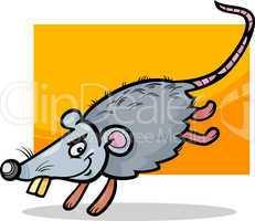 mouse or rat cartoon illustration