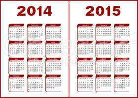 Calendar 2014,2015