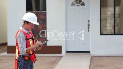 Female Building Construction Inspector