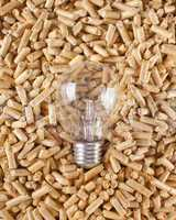 Production of electricity with wood pellets