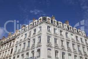 Fassade traditioneller Wohngebäude in Lyon,Frankreich