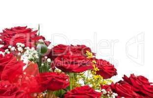 Corner of red roses