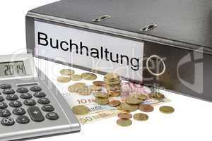 buchhaltung binder calculator and currency