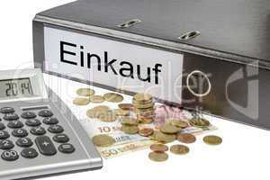 einkauf binder calculator and currency