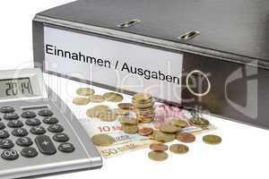 einnahme ausgabe binder calculator and currency