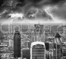 Storm over London skyline