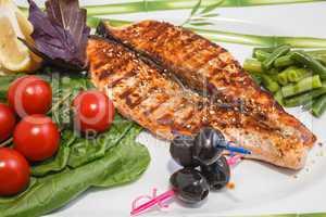 freshly cooked fish