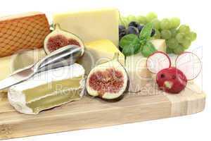 frische auswahl an käse