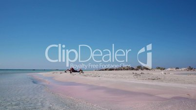 holiday at the famous pink sand of elafonisi beach