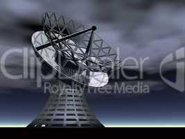 satellite dish antenna - 3d render