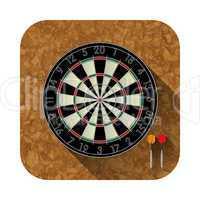 dart board app icon