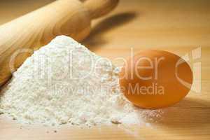 flour and egg