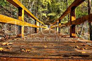 wooden bridge hdr