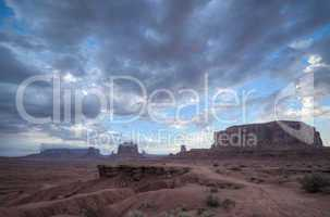 rock without horse in monument valley