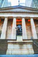 federal hall national memorial at wall street in new york