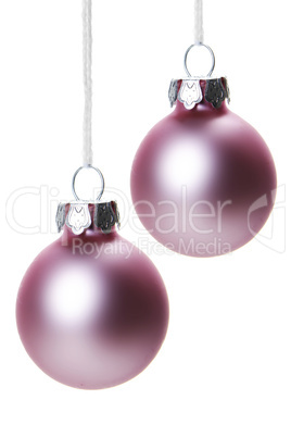 Weihnachtskugeln Pink.Pink Dull Christmas Ball On White Background Royalty Free Images