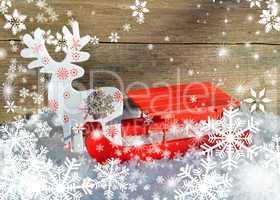 weihnachten schlitten im schnee