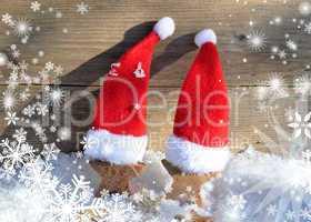 nikolaus mützen im schnee