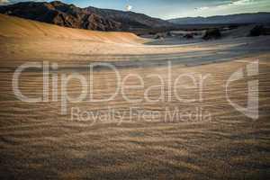 death valley look into desert