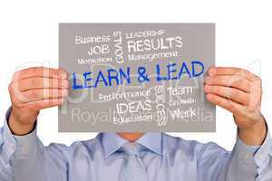 Learn and Lead - Business Concept