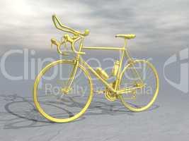 golden race bike - 3d render