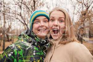 funny portrait of teenage young couple