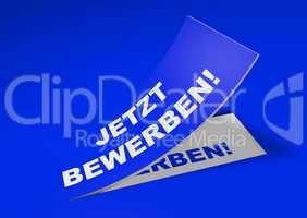3D Etikett Blau - Jetzt bewerben!