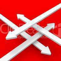 pfeilkontrast rot weiß