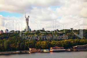 mother of the motherland monument in kiev, ukraine