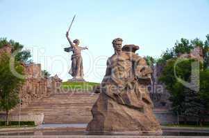 the motherland calls! monument in volgograd, russia