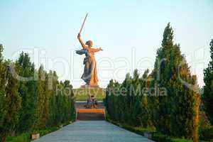 'the motherland calls!' monument in volgograd, russia